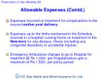 allowable expenses contd