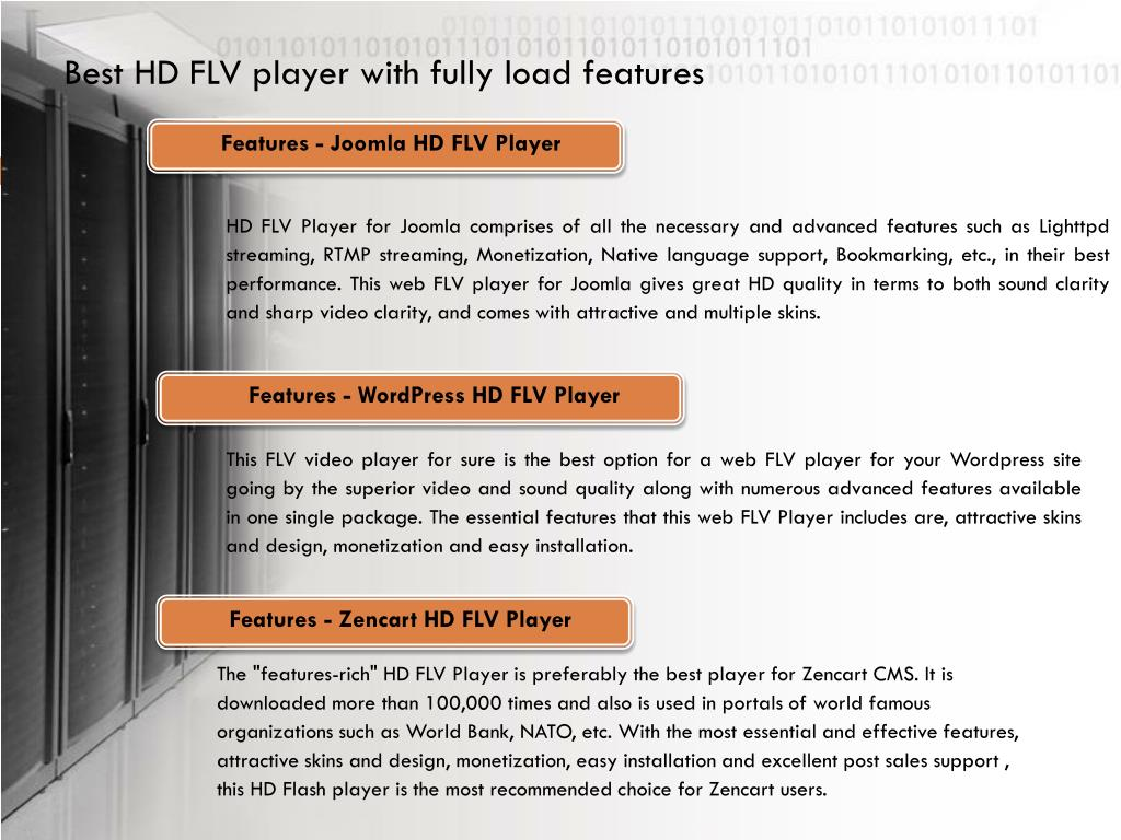 Best HD FLV player with fully load features