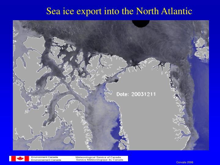 Sea ice export into the North Atlantic