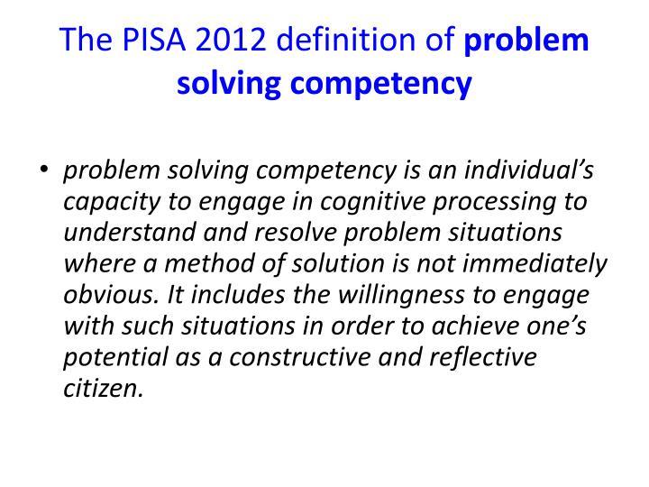 problem solving method definition