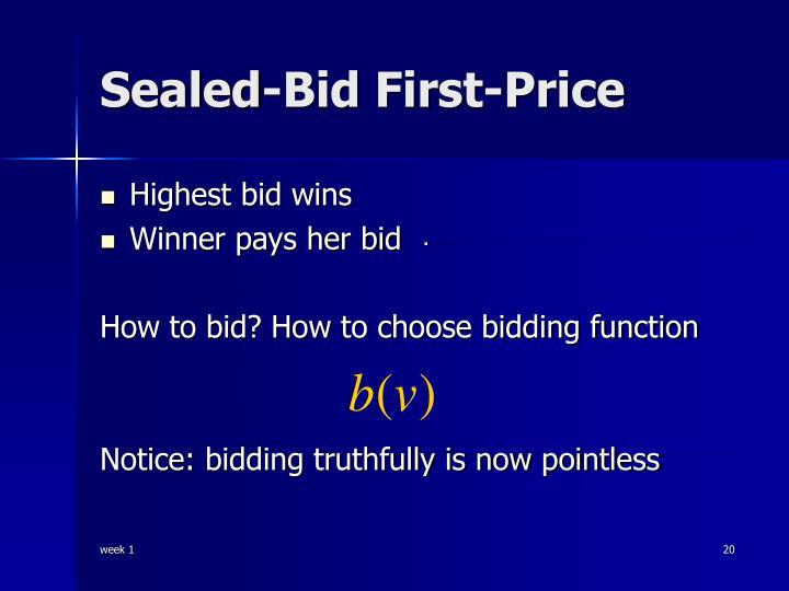 Sealed-Bid First-Price