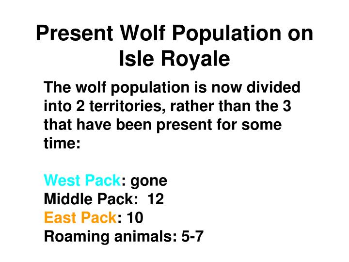 Present Wolf Population on Isle Royale