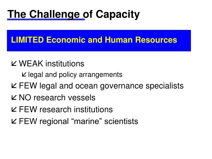 The Challenge of Capacity
