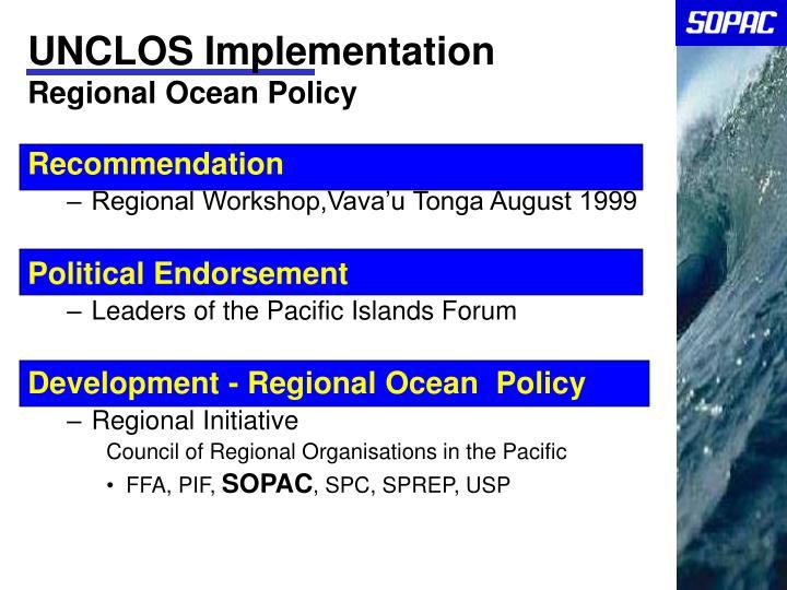 UNCLOS Implementation