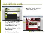 log in steps cont