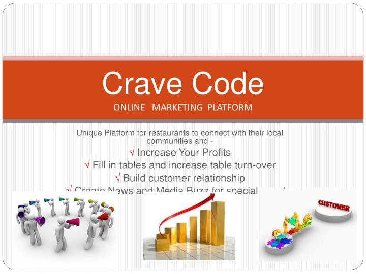 Crave code online marketing platform