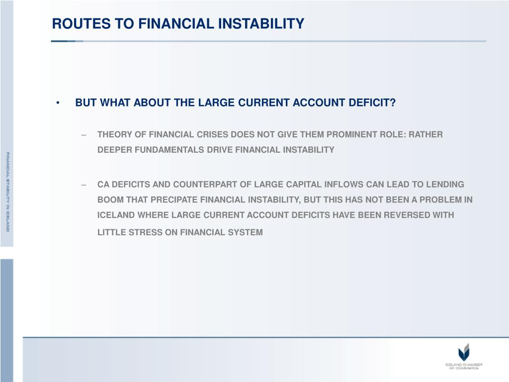 ROUTES TO FINANCIAL INSTABILITY