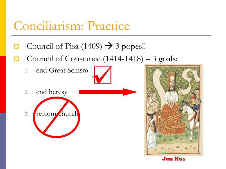 Conciliarism: Practice