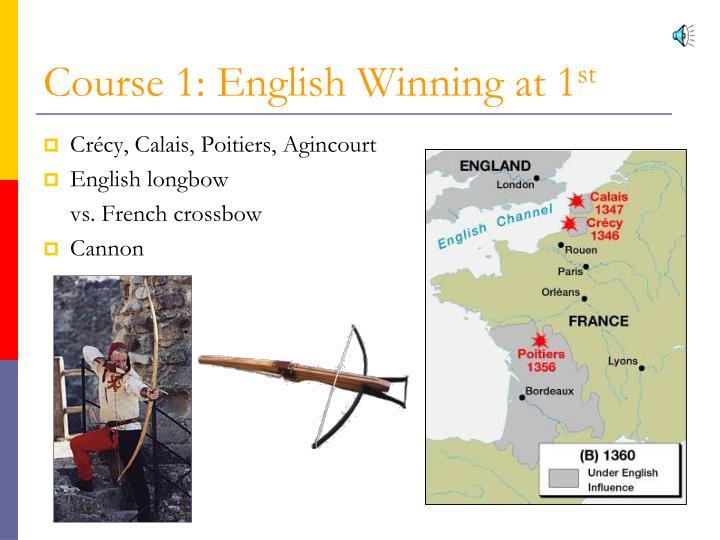 Course 1: English Winning at 1