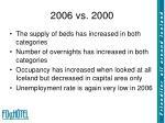 2006 vs 2000