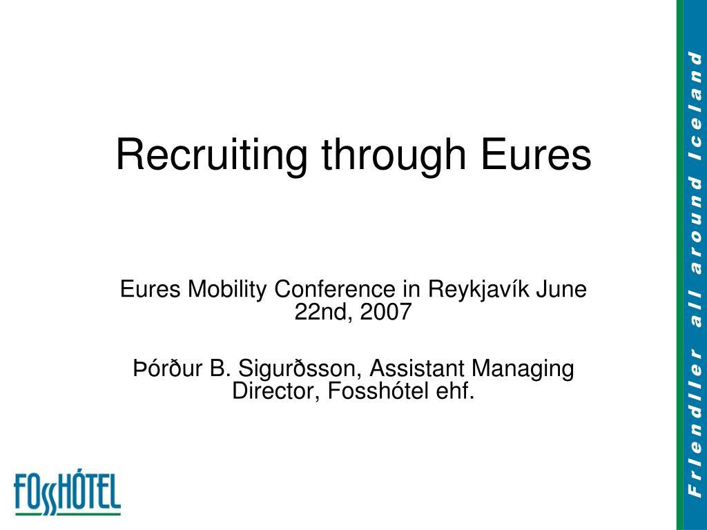 recruiting through eures l.