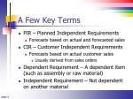 a few key terms