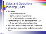 sales and operations planning sop