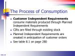 the process of consumption