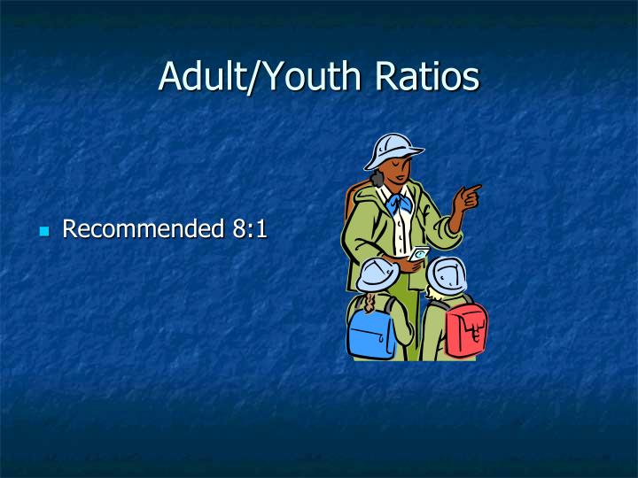 Adult/Youth Ratios