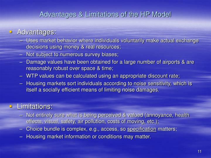 Advantages & Limitations of the HP Model
