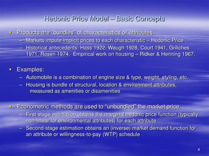 Hedonic Price Model – Basic Concepts