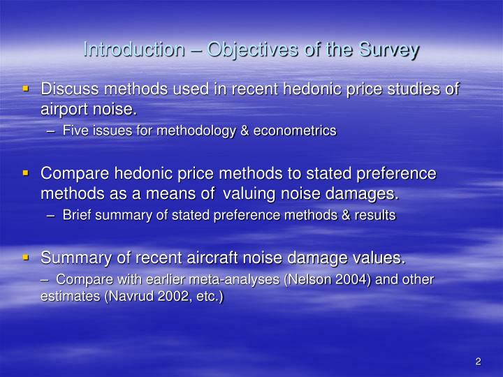 Introduction objectives of the survey