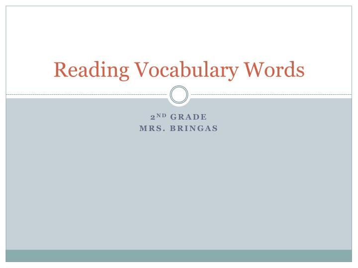 reading vocabulary words n.