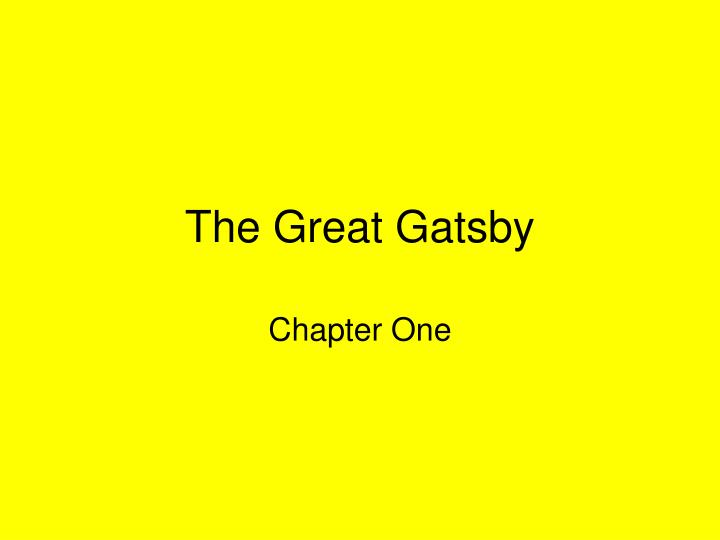 analysis of nick carroways presentation chapter Summary of chapter 2 of the great gatsby by f scott fitzgerald summary of chapter 2 tom invites nick out for an chapter summaries & analysis chapter 1.
