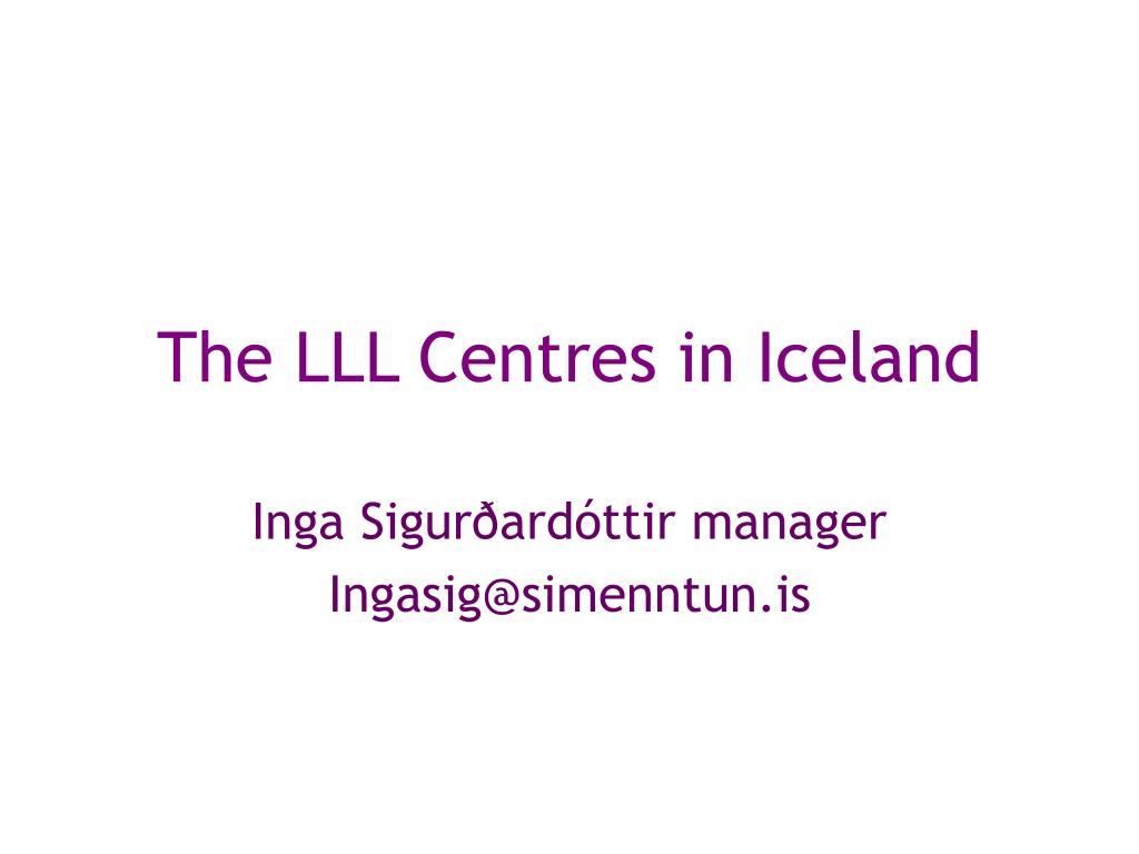 the lll centre s in iceland l.