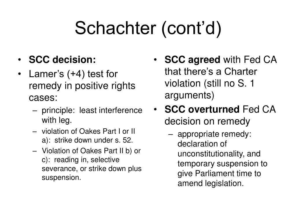 SCC decision: