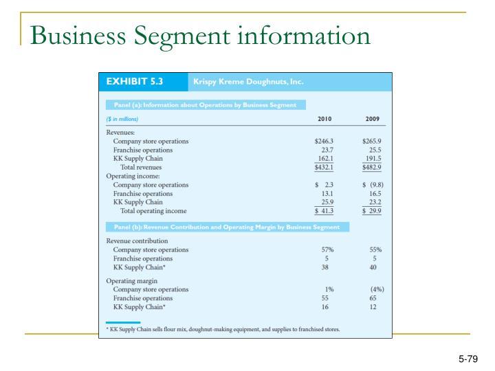 Business Segment information