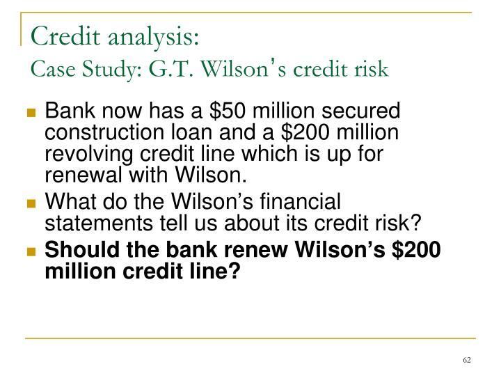Credit analysis: