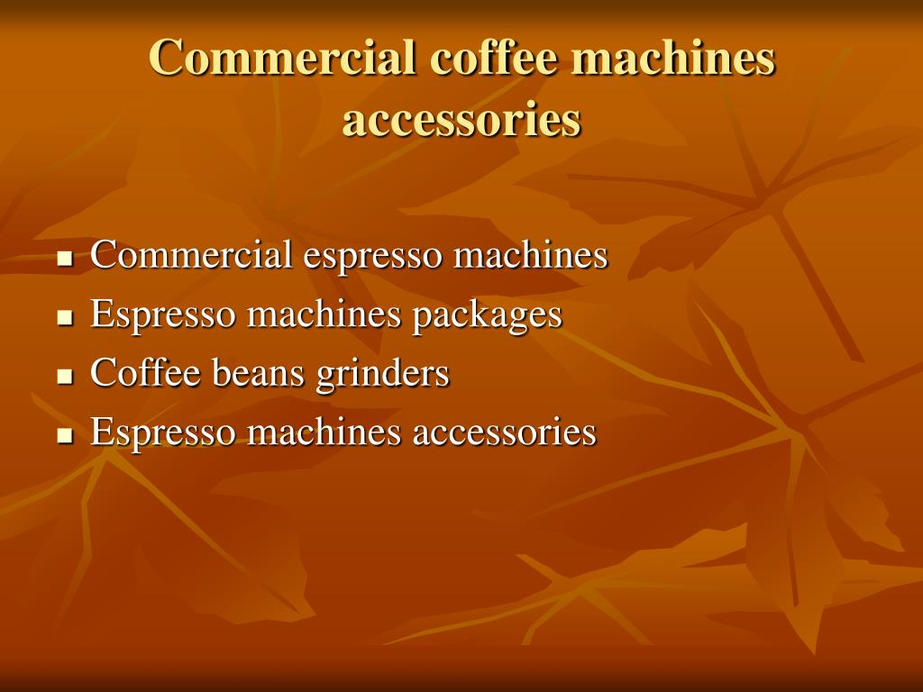 Commercial coffee machines accessories