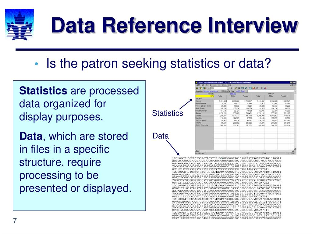 Data Reference Interview