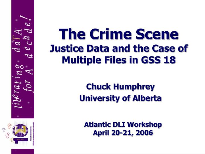 The crime scene justice data and the case of multiple files in gss 18