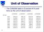 unit of observation26
