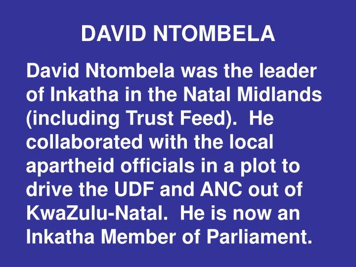 DAVID NTOMBELA