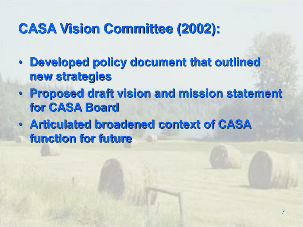 CASA Vision Committee (2002):