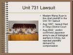 unit 731 lawsuit