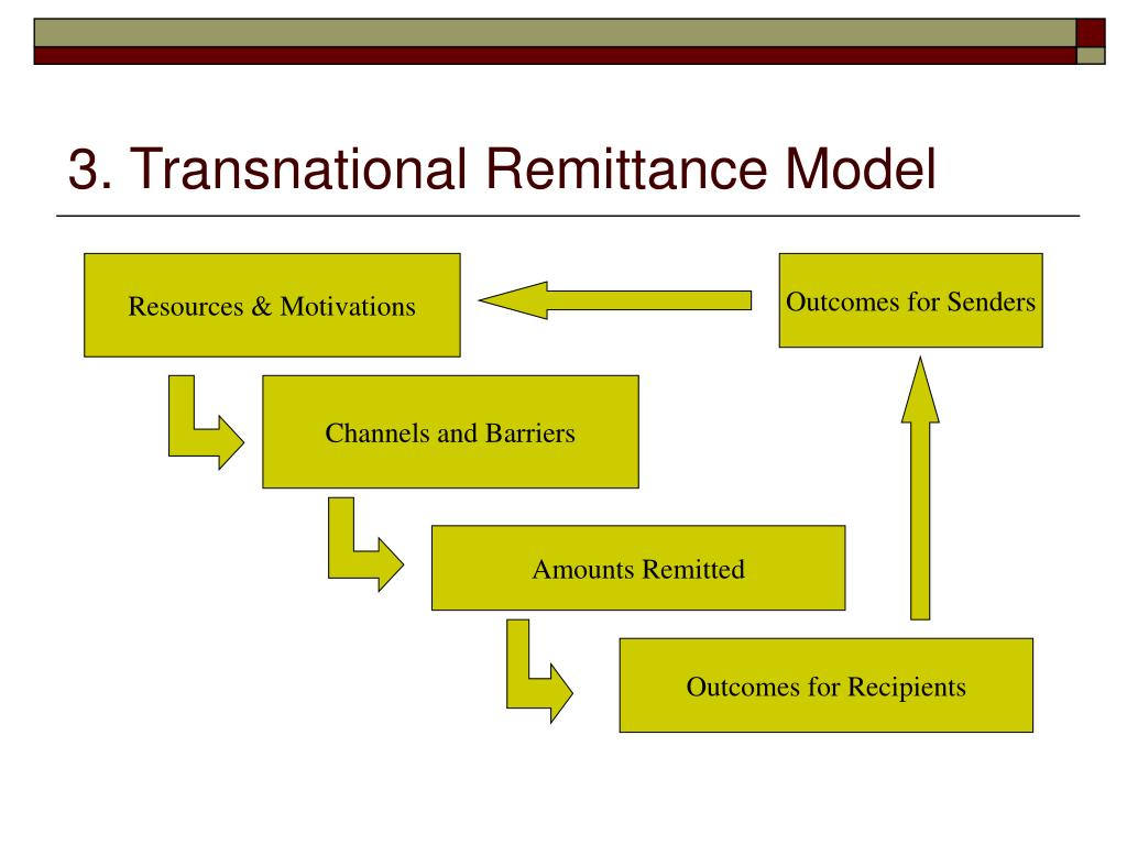 3. Transnational Remittance Model
