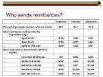 who sends remittances