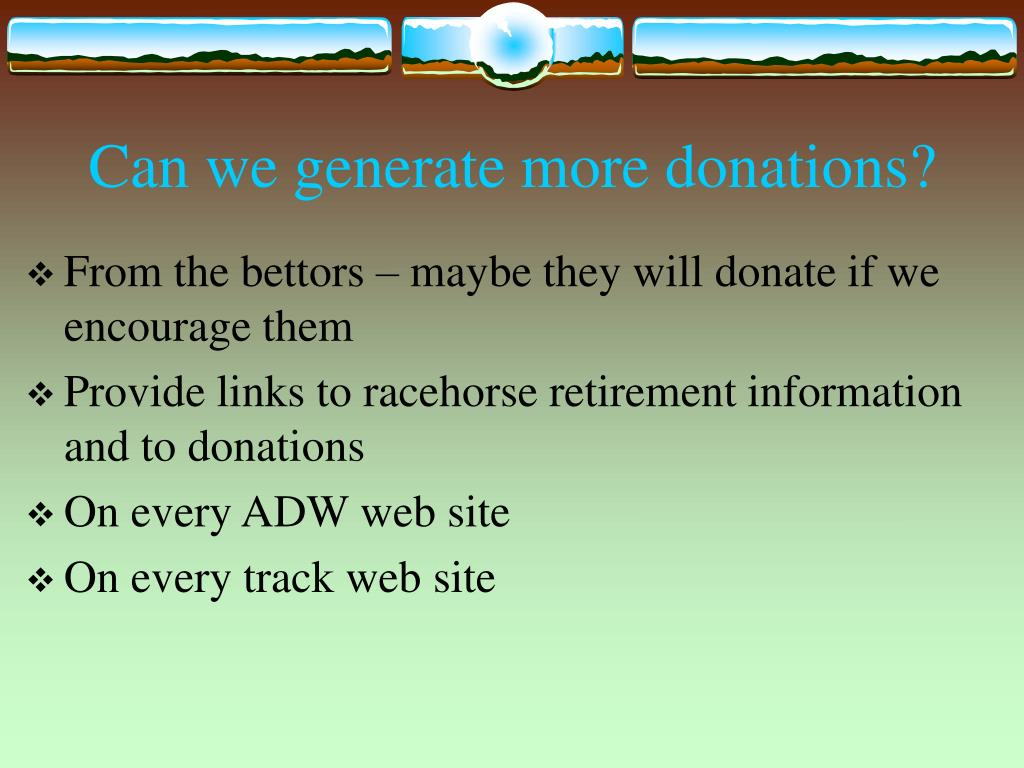 Can we generate more donations?