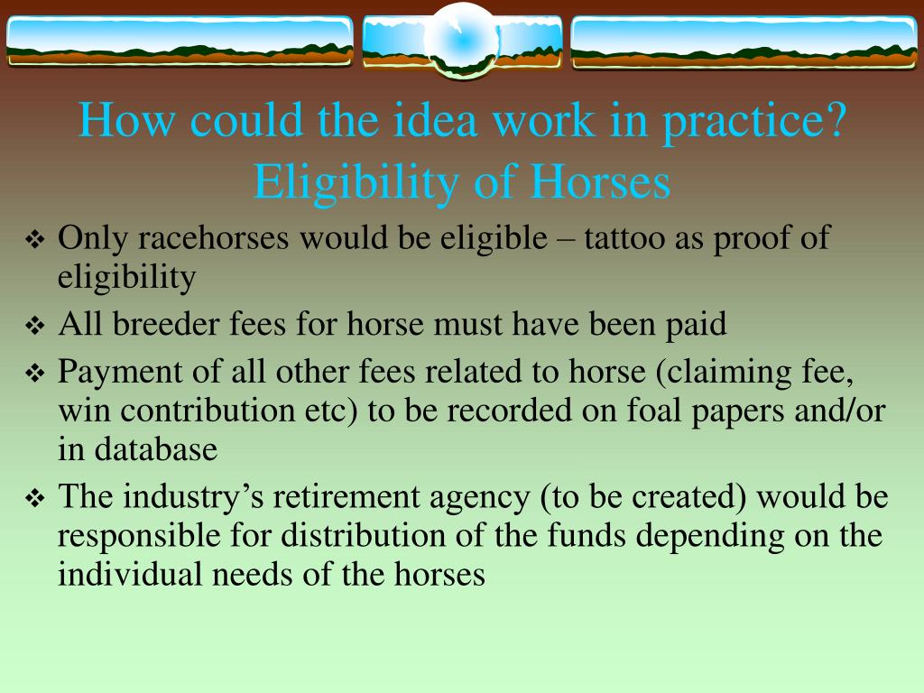 How could the idea work in practice?