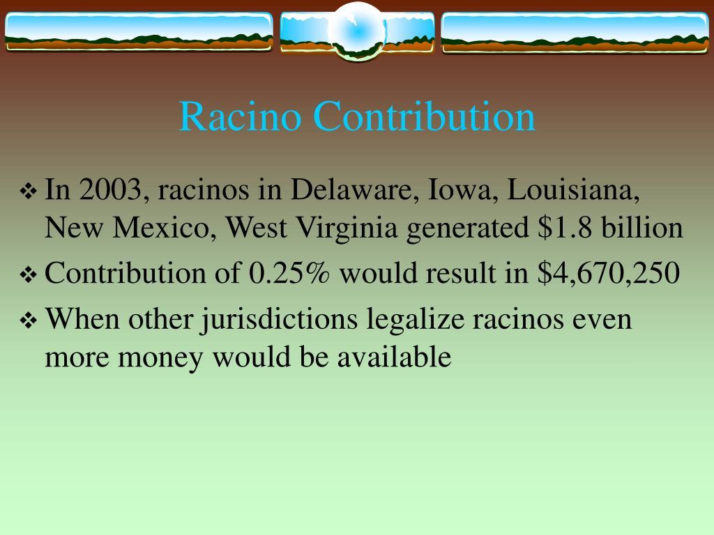 Racino Contribution