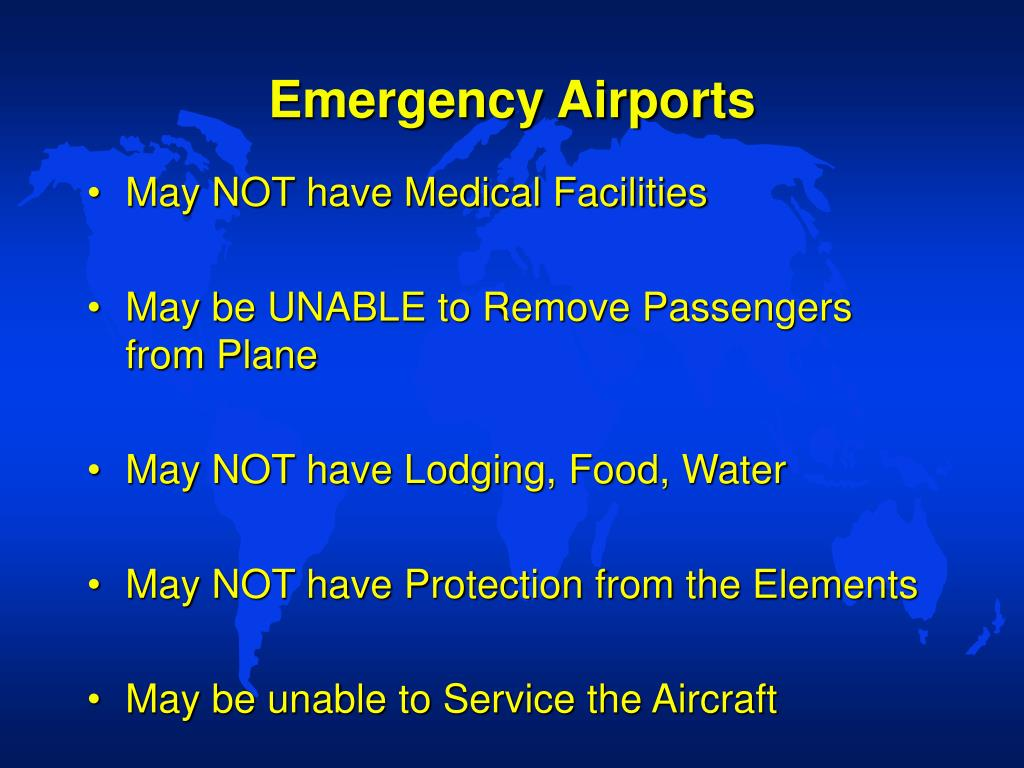 Emergency Airports