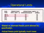 operational limits