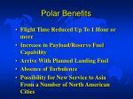 polar benefits