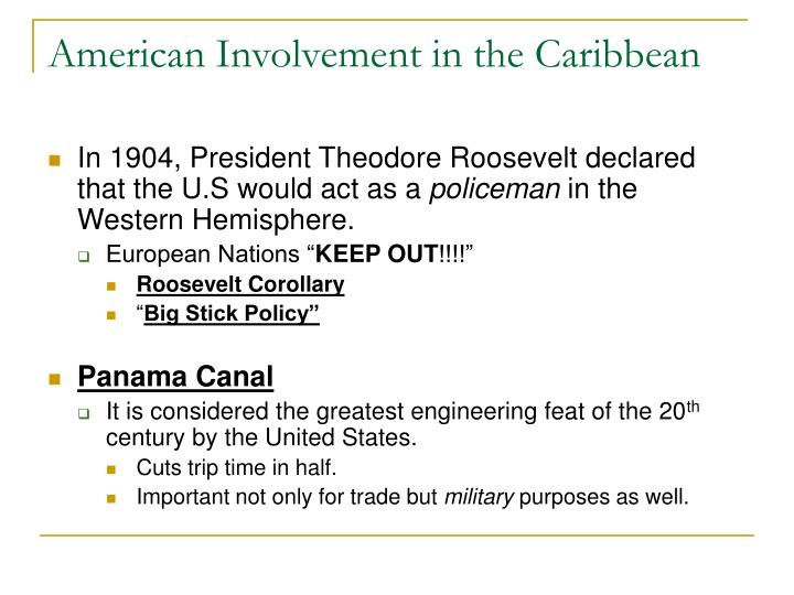 American Involvement in the Caribbean