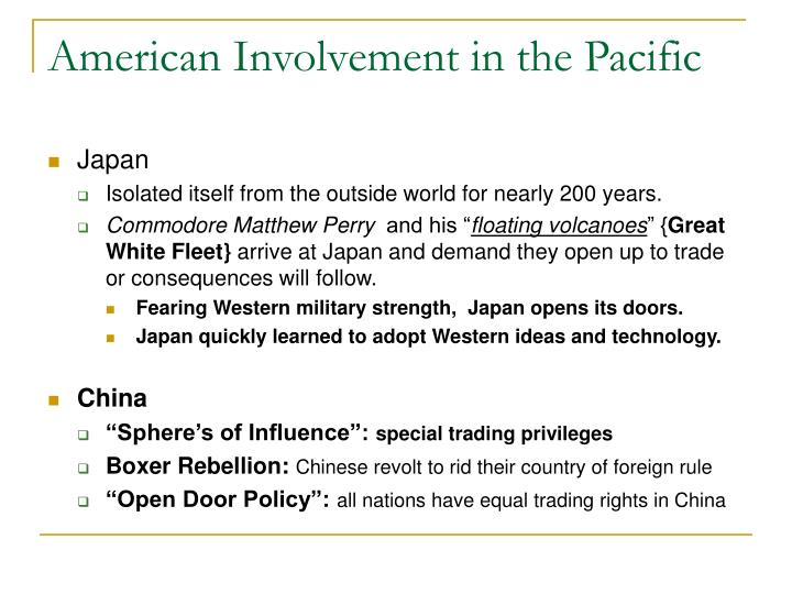 American Involvement in the Pacific