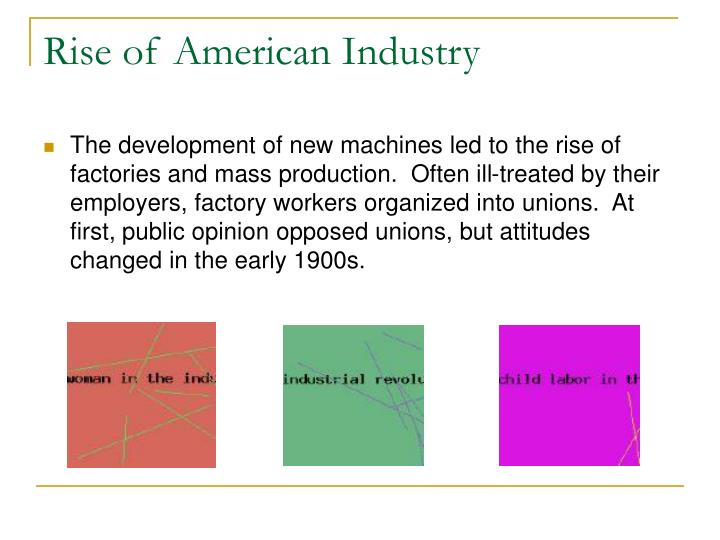 Rise of American Industry