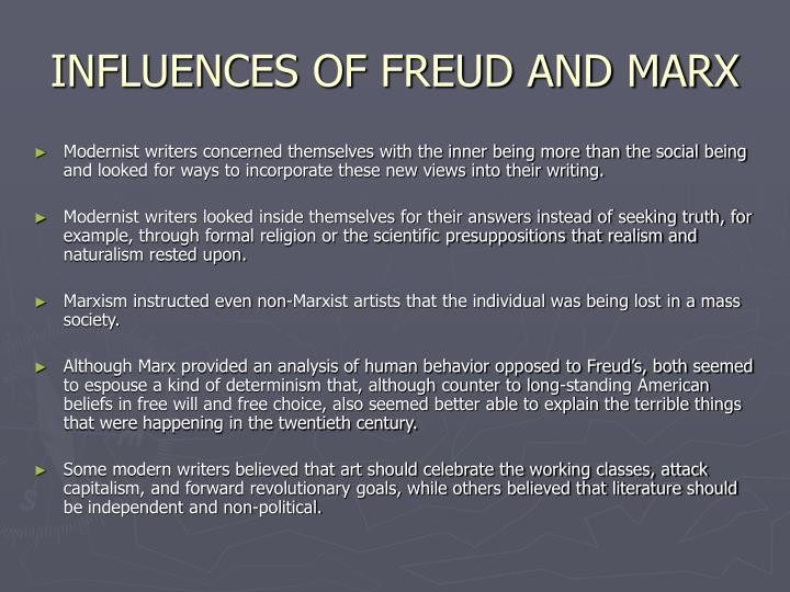 freud vs marx essay The essays are the theory of multiple intelligences, written by howard gardner, the personal and collective unconscious, written by carl jung, the allegory of the cave, written by plato, and from the interpretation of dreams, written by sigmund freud.