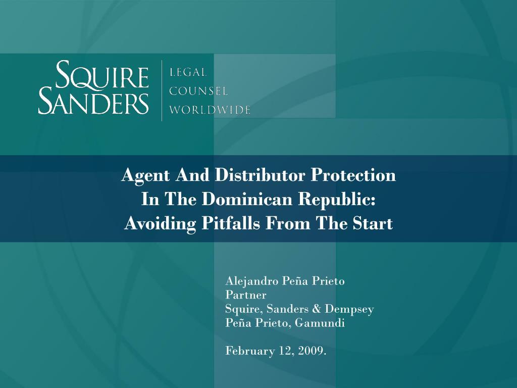 Agent And Distributor Protection