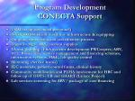 program development conecta support