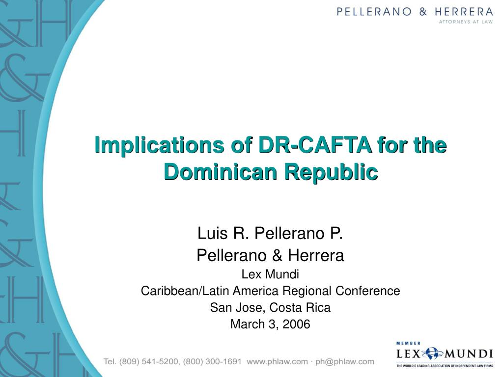 implications of dr cafta for the dominican republic l.